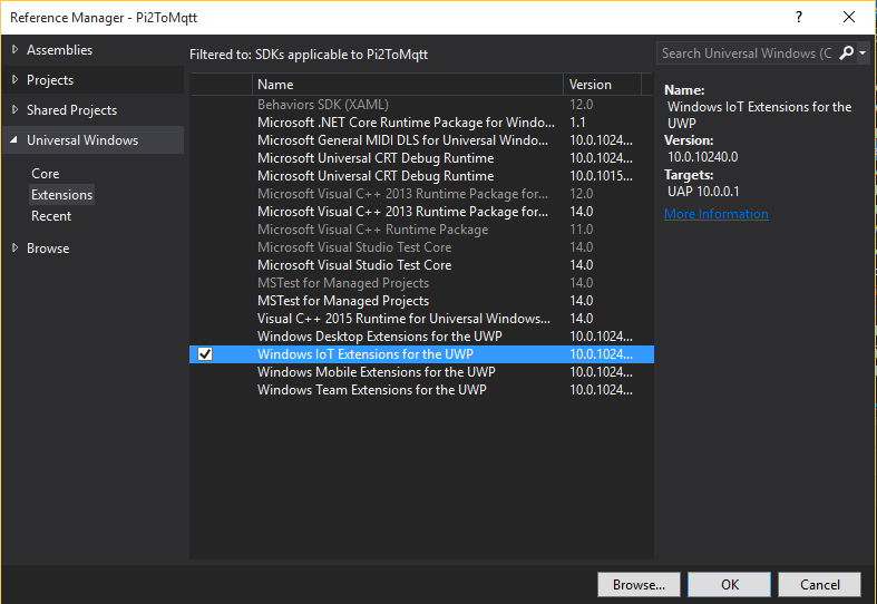 Windows IoT Core and M2Mqtt … a simple marriage